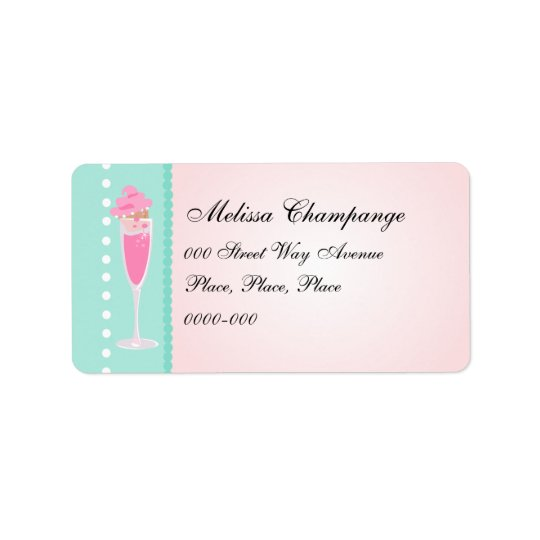 Champagne and Cupcakes Address Label