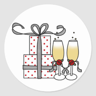 Champagne and Gifts Sticker