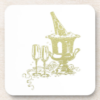 Champagne and Glasses Art Drink Coaster