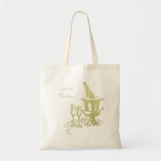 Champagne and Glasses Art Tote Bag