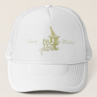 Champagne and Glasses Art Trucker Hat