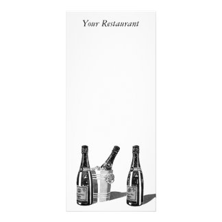 Champagne and Ice Bucket Menu