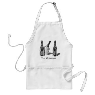 Champagne and ice bucket standard apron