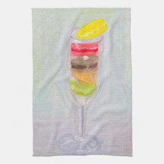 Champagne and Macaroons Kitchen Towel