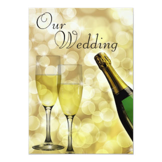 Champagne and Toasting Flutes Invitation Card
