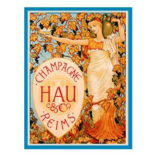 Champagne Art Nouveau Poster Art Postcard