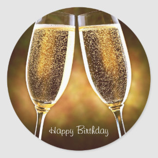 Champagne Birthday Sticker