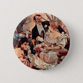 Champagne Biscuits 1896 6 Cm Round Badge