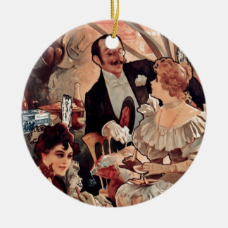 Champagne Biscuits 1896 Christmas Ornament