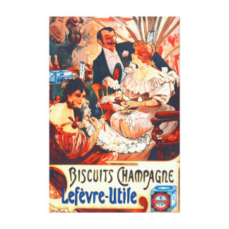 Champagne Biscuits Ad 1896 Gallery Wrapped Canvas