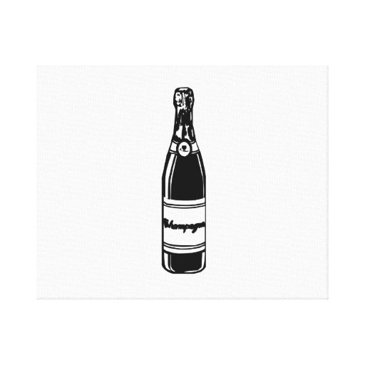 Champagne Bottle Gallery Wrapped Canvas