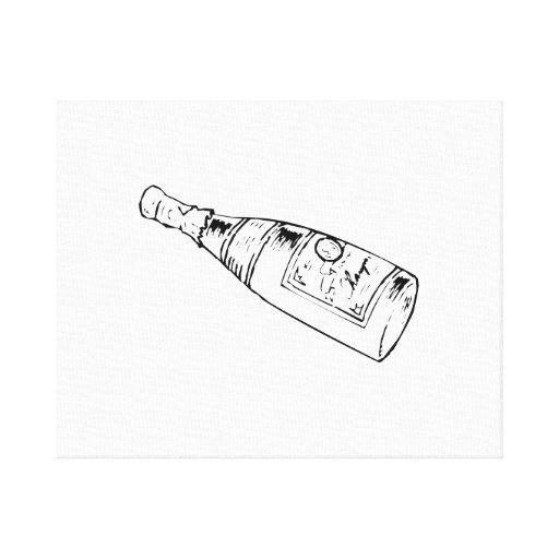 Champagne Bottle Canvas Print