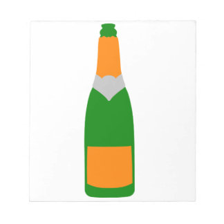 Champagne bottle notepad