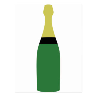 champagne bottle postcard