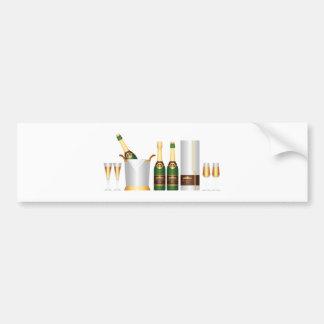 champagne bottles bumper sticker