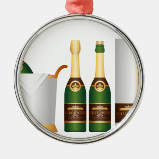 champagne bottles christmas ornament