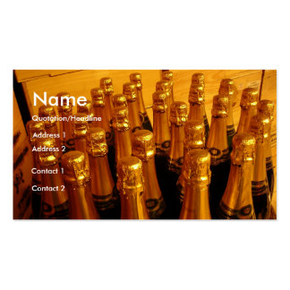 Champagne Bottles Pack Of Standard Business Cards