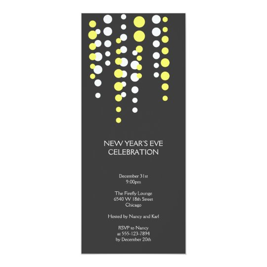 Champagne bubble grey modern chic holiday party card