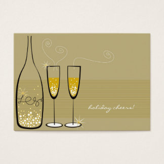 Champagne Bubbles Celebration Mini Party Invite