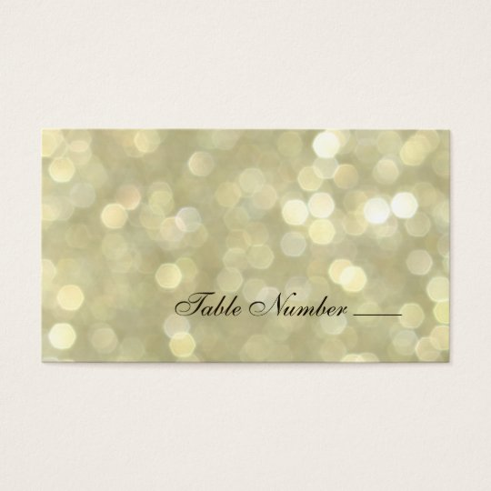 Champagne Bubbles Escort Card