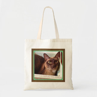 Champagne Burmese in Decorative Box 1 Canvas Bag
