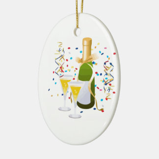 Champagne Celebration Ceramic Oval Decoration