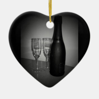 Champagne Ceramic Heart Decoration
