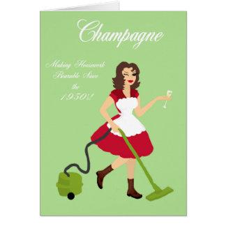 Champagne Charlotte Fun Card
