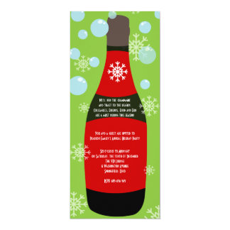 Champagne Christmas Cocktail Party Card