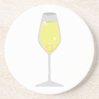 Champagne Drink Coaster