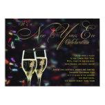 Champagne Confetti New Years Eve Party Invitation