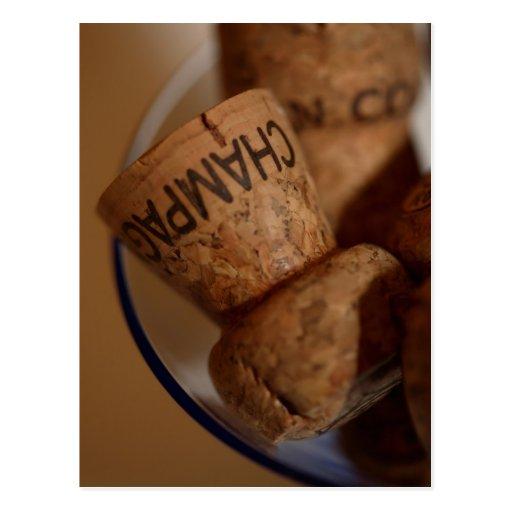 Champagne Corks Postcard