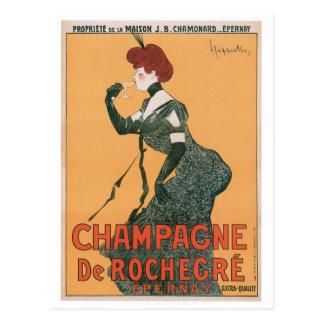 Champagne De Rochegre Vintage Drink Ad Art Postcard