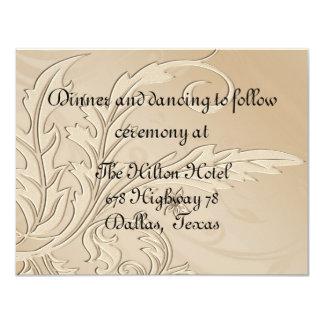 Champagne Fleur Formal Reception Card