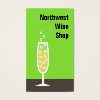 Champagne flute business card