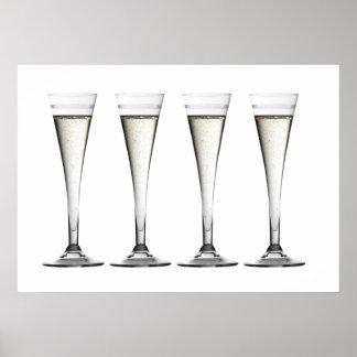 Champagne Flute Glasses Print