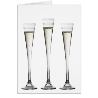 Champagne Flutes Card