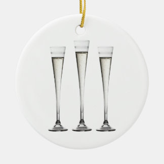 Champagne Flutes Christmas Ornament