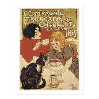 Champagne Francais Chocolats et des Thes Vintage A Post Card