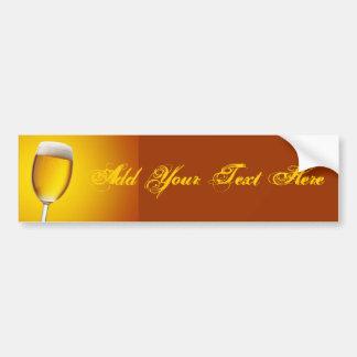 Champagne Glass Bumper Stickers