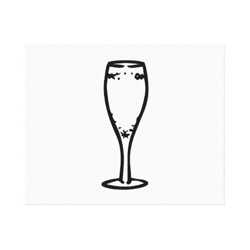 Champagne Glass Gallery Wrapped Canvas