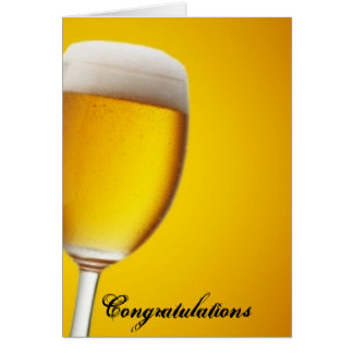 Champagne Glass Greeting Card