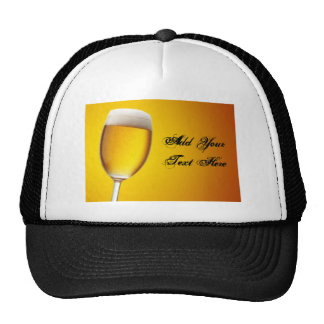 Champagne Glass Mesh Hats