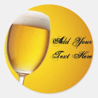 Champagne Glass Round Stickers