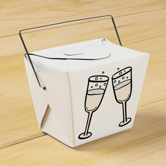 Champagne Glasses Black And White Wedding Party Favour