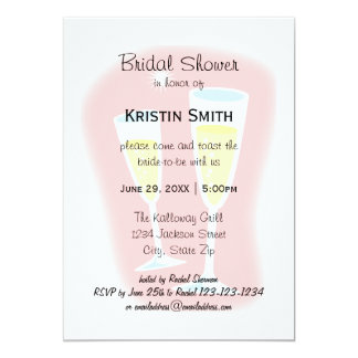 Champagne Glasses - Bridal Shower Card