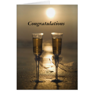Champagne glasses card