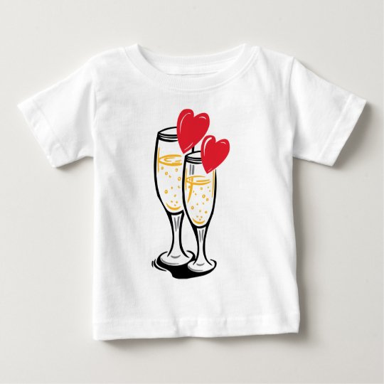 Champagne glasses celbrating love baby T-Shirt