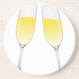 Champagne Glasses Beverage Coasters