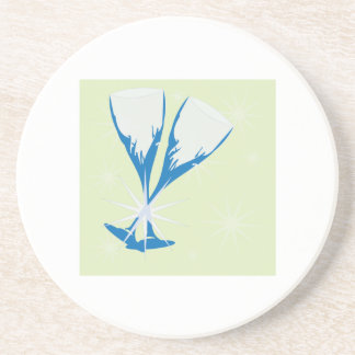 Champagne Glasses Drink Coasters